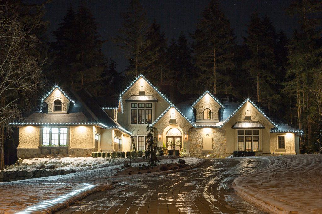 LED Christmas lights display
