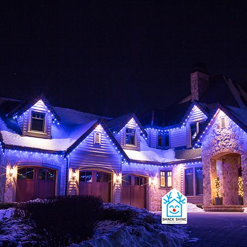 Shack Shine Christmas light installation in Vancouver