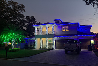 Shack Shine Christmas light installation in Florida