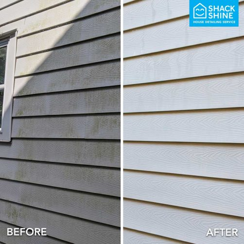 Professional house washing before and after