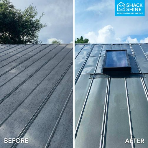 Shack Shine power washing before and after