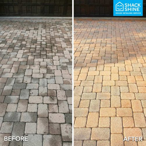 Power washing before and after